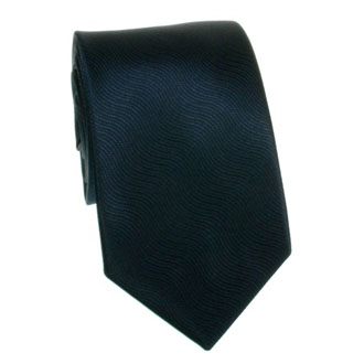 Dark navy blue wavy textured tie