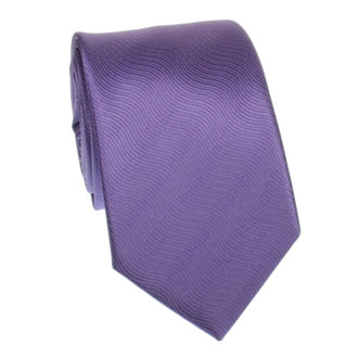 Light purple wavy textured tie