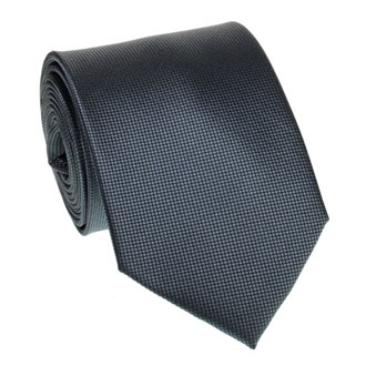 Charcoal honeycomb textured tie