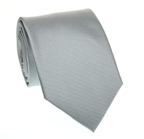 Gray honeycomb textured tie