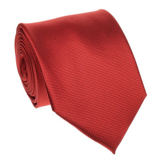 Red honeycomb textured tie
