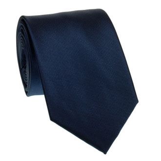 Navy blue honeycomb textured tie