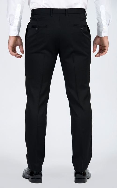 Basic Black Pants - Back pants