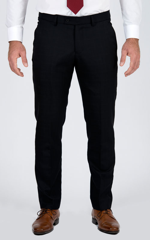 Black Prince Of Wales Pants - Front pants