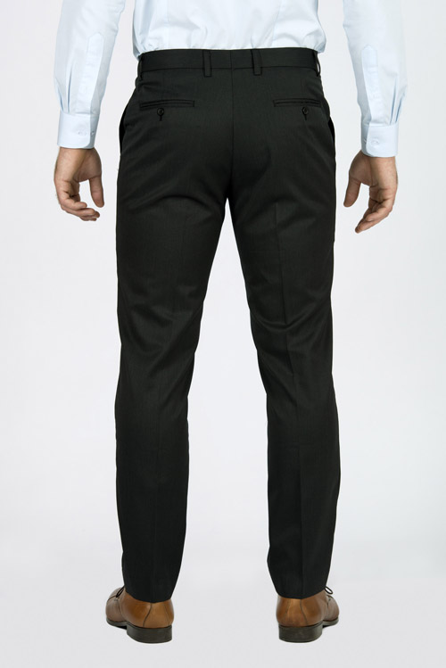 Charcoal Pinstripe Pants - Back pants