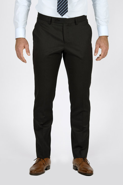 Charcoal Pinstripe Pants