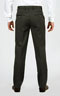 Premium Pinstripe Shadow Grey Pants - Back pants