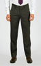 Premium Pinstripe Shadow Grey Pants - Front pants