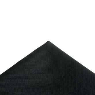 Italian fabric black pocket handkerchief