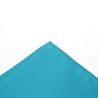 Turquoise blue pocket handkerchief