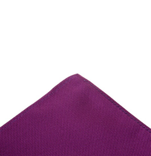 Dark purple pocket handkerchief