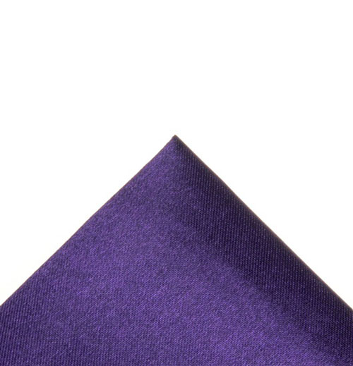 Silk dark purple pocket handkerchief
