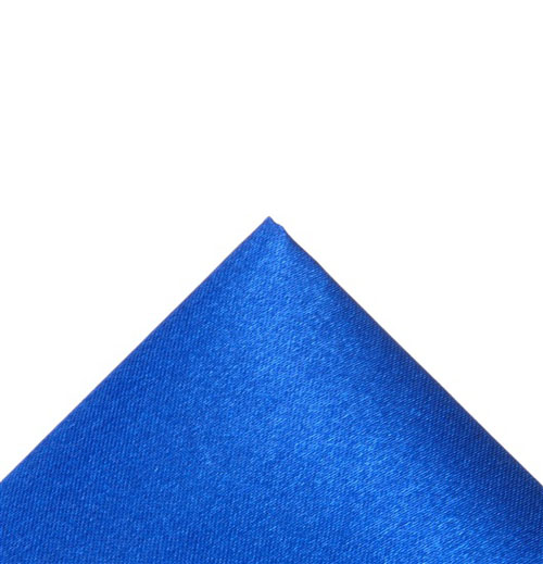 Silk electric blue pocket handkerchief