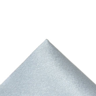 Silk light gray pocket handkerchief