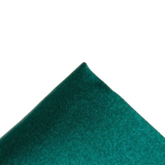 Silk dark green pocket handkerchief
