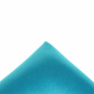 Silk dark turquoise pocket handkerchief