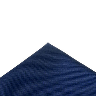 Italian fabric navy blue pocket handkerchief