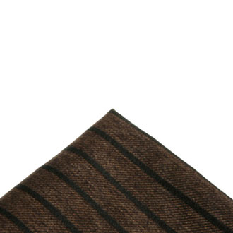 Brown silk brown black checkered pocket handkerchief
