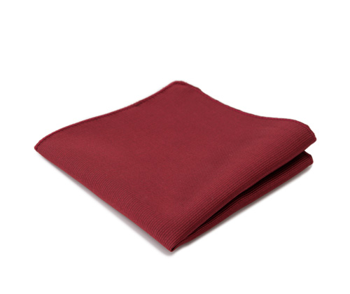 Dark garnet pocket handkerchief