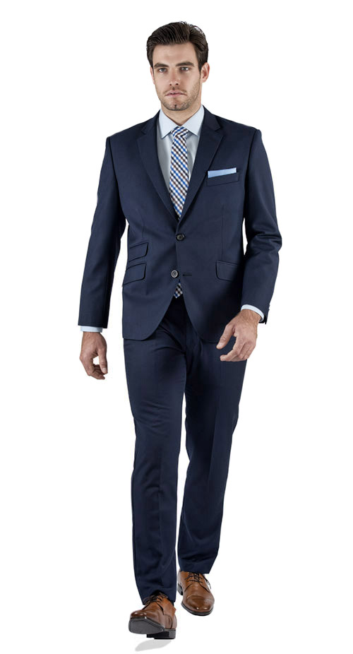 Basic Blue Tailored Suit - Entire suit
