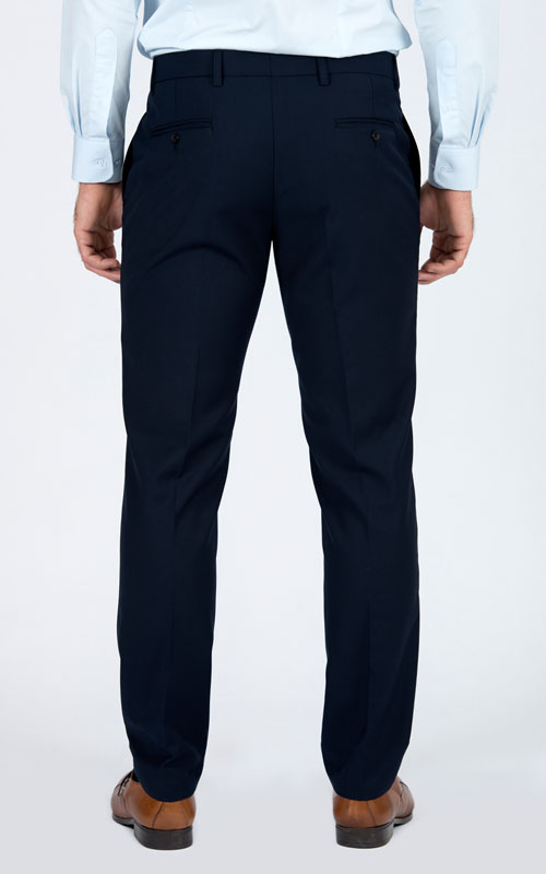 Basic Blue Tailored Suit - Back pants