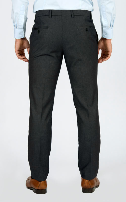 Basic Grey Custom Suit - Back pants