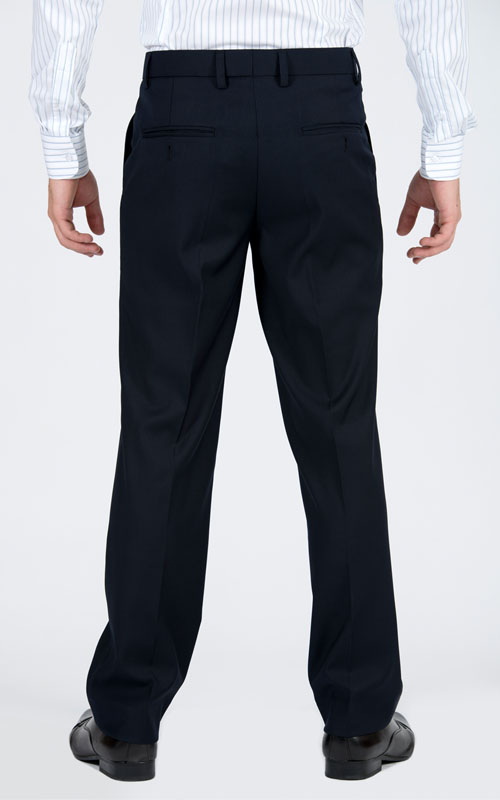 Basic Navy Custom Suit - Back pants