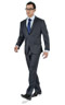 Striped Grey 2 Piece Custom Suit - Entire suit