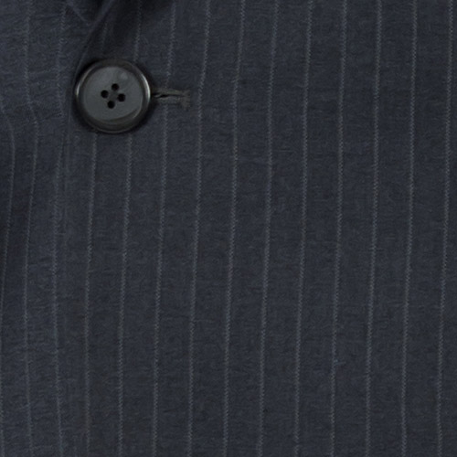 Striped Grey 2 Piece Custom Suit - Fabric