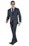 Striped Grey 3 Piece Custom Suit - Entire suit