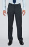 Striped Grey 3 Piece Custom Suit - Front pants