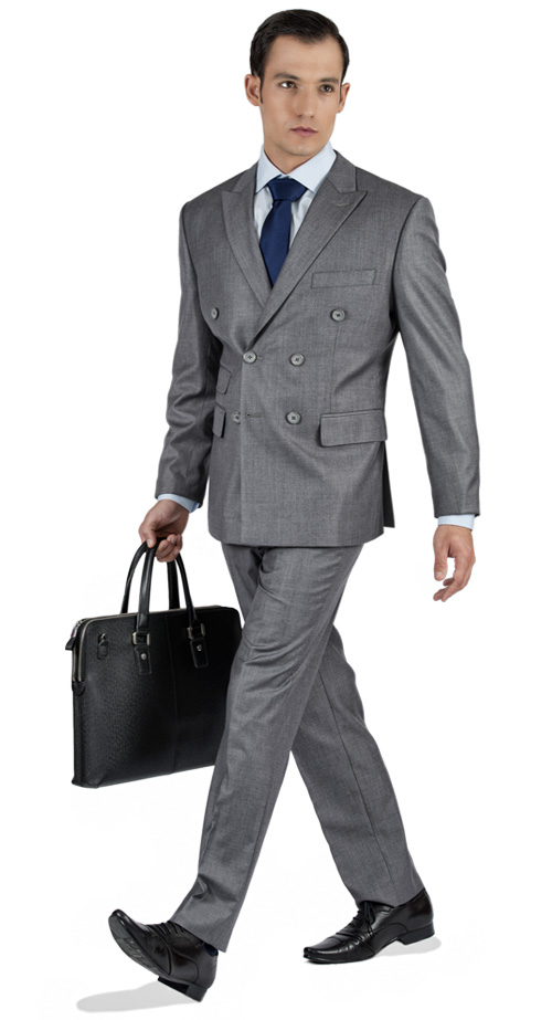 Basic Light Grey Tailored Suit