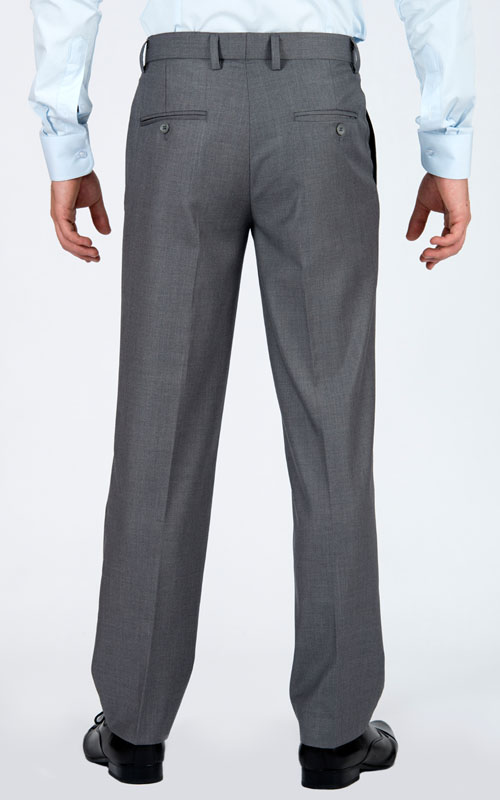 Basic Light Grey Tailored Suit - Back pants