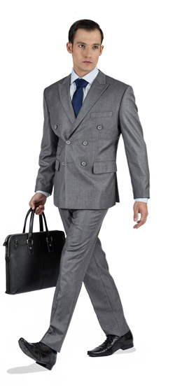Basic Light Grey Custom Suit