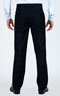 Navy Prince Of Wales Custom Suit - Back pants