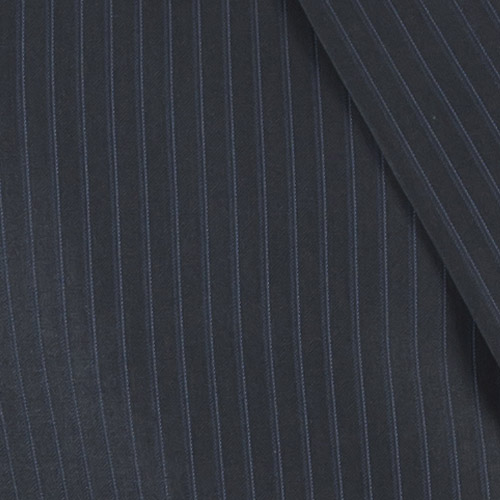 Striped Navy Custom Suit - Fabric