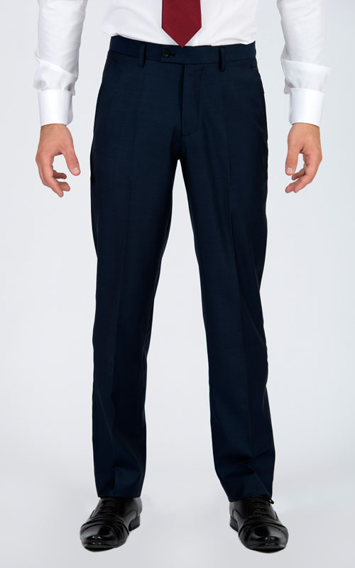 Premium Blue 3 Piece Custom Suit - Front pants