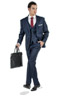 Premium Blue 3 Piece Custom Suit - Entire suit