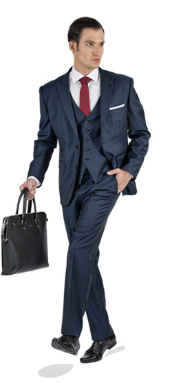 Tailored suit - Premium Blue 3 Piece Tailored Suit