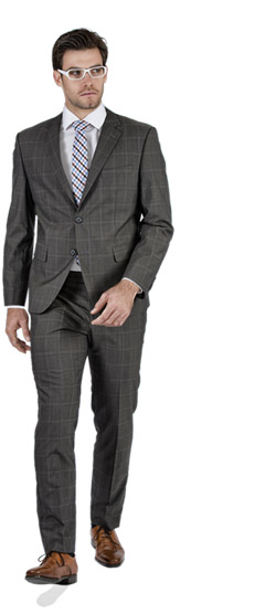 Tailored suit - Premium Brown Prince Of Wales Tailored Suit