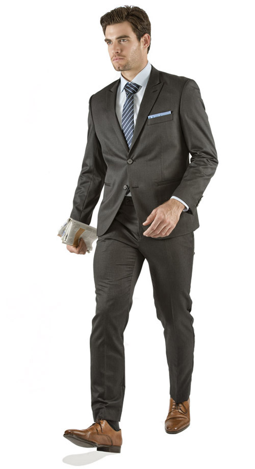 Charcoal Pinstripe Custom Suit