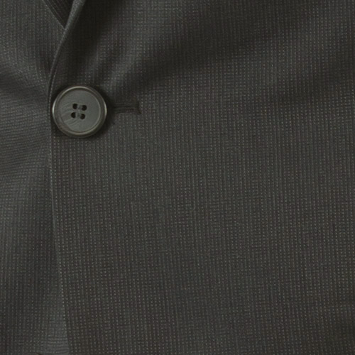 Charcoal Pinstripe Custom Suit - Fabric