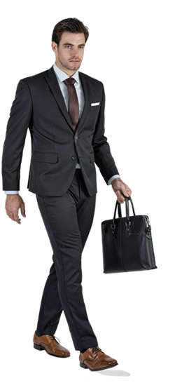 Premium Pinstripe Dark Grey Custom Suit