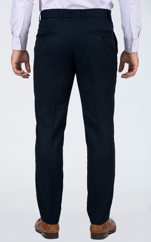 Bird's Eye Blue Custom Suit - Back pants