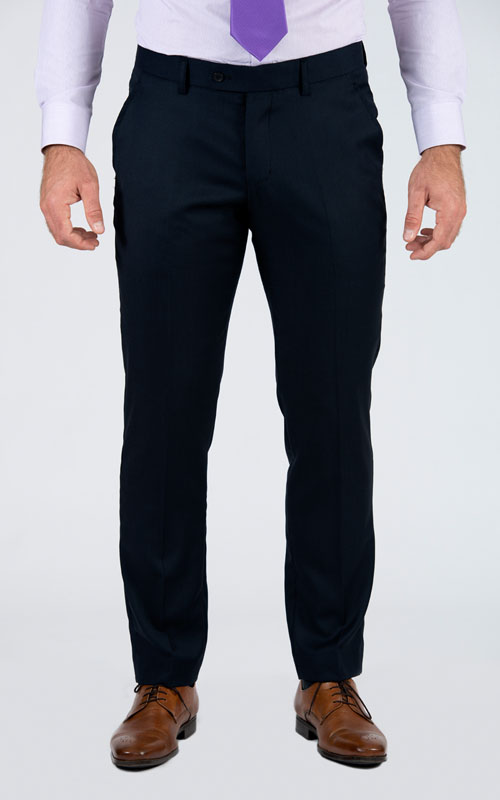 Bird's Eye Blue Custom Suit - Front pants