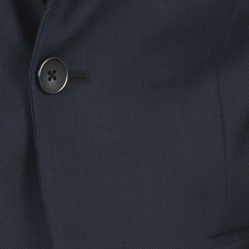 Bird's Eye Blue Custom Suit - Fabric