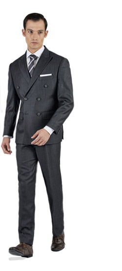 Bird's Eye Grey Custom Suit
