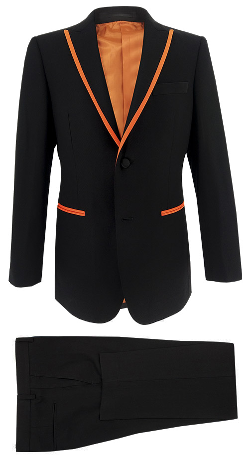 Tuxedo Black & Orange - Entire suit