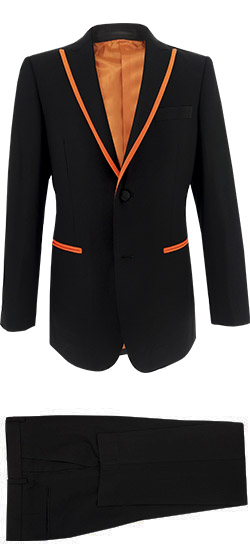 Tuxedo Black & Orange