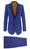 Blue Tuxedo Blue Lapels - Entire suit